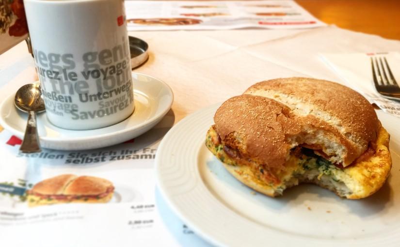 Frühstücken mit der Deutschen Bahn